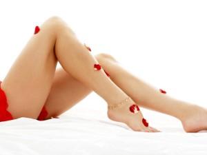 long legs lady in spa